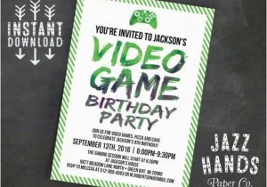 Video Game Birthday Party Invitation Template Free Printable Diy