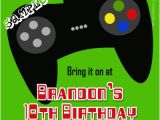 Video Game Birthday Party Invitation Template Free Video Game Controller Birthday Invitations All Colors
