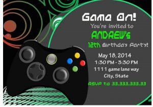 Video Game Birthday Party Invitation Template Free Invite Gamer