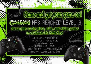 Video Game Birthday Party Invitation Template Free Invitations