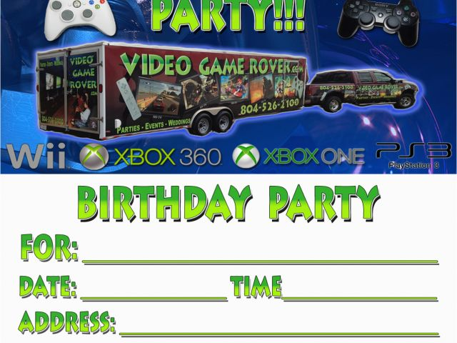 Download By SizeHandphone Tablet Desktop Original Size Back To Video Game Birthday Party Invitation Template Free