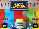 Video Game themed Birthday Party Decorations Kara 39 S Party Ideas Arcade Video Game Pac Man sonic Mario