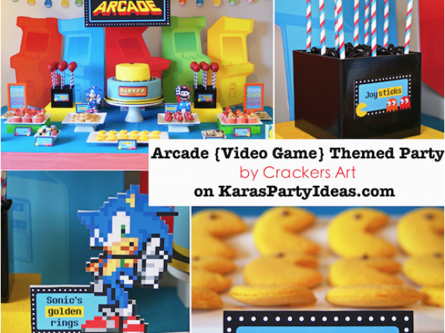 Video Game Themed Birthday Party Decorations Kara 39 S Ideas