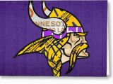 Viking Birthday Card Minnesota Vikings Football Team Retro Logo Minnesota