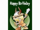 Viking Birthday Card Viking Warrior Birthday Greeting Card Zazzle