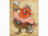 Viking Birthday Card Viking Warrior Greeting Card Zazzle