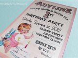 Vintage 1st Birthday Party Invitations 1950 39 S Style Retro Vintage Baby 39 S 1st Birthday