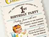 Vintage 1st Birthday Party Invitations A Little Sweet Vintage Baby Love Loralee Lewis
