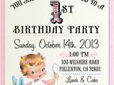 Vintage 1st Birthday Party Invitations Vintage 1st Birthday Party Invitation Di 230 Custom