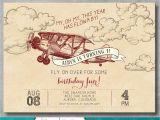 Vintage 1st Birthday Party Invitations Vintage Airplane Invitation First Birthday 1st Retro Old