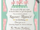 Vintage 1st Birthday Party Invitations Vintage Carousel 1st Birthday Invitations Di 287