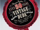 Vintage 50th Birthday Decorations Vintage Dude 50th Birthday Party 18 Quot Foil Balloon
