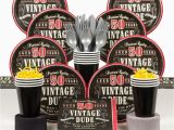 Vintage 50th Birthday Decorations Vintage Dude 50th Birthday Party Deluxe Tableware Kit