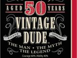 Vintage 50th Birthday Decorations Vintage Dude 50th Birthday Party Lunch Napkins
