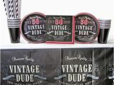 Vintage 50th Birthday Decorations Vintage Dude 50th Birthday Party Supplies Pack for 16