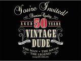 Vintage 50th Birthday Decorations Vintage Man 50th Birthday Invitations 891567 My Paper Shop