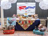 Vintage Airplane Birthday Decorations Kara 39 S Party Ideas Vintage Airplane Birthday Party Kara