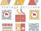 Vintage Airplane Birthday Decorations Vintage Airplane Birthday Party Airplane Baby Shower