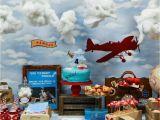 Vintage Airplane Birthday Decorations Vintage Airplane Birthday Party Ideas Photo 3 Of 13