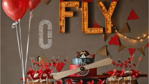 Vintage Airplane Birthday Decorations Vintage Airplane Birthday Party Ideas Photo 4 Of 21