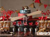 Vintage Airplane Birthday Decorations Vintage Airplane Birthday Quot Vintage Airplane Dessert