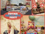 Vintage Airplane Birthday Decorations Vintage Airplane Party Printable Collection Mimi 39 S Dollhouse
