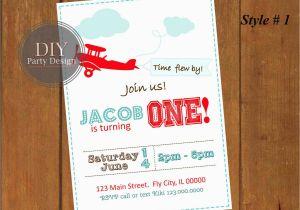 Vintage Airplane Birthday Invitations Invitation First