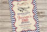 Vintage Airplane Birthday Invitations Vintage Airplane Birthday Printable Invitations Rustic theme