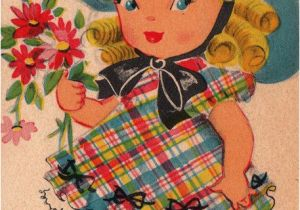 Vintage Birthday Cards For Her 1940s Greetings To A Sweet Little Girl