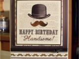 Vintage Birthday Cards for Men Vintage Style Masculine Birthday Card for Men that Wear A