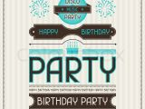 Vintage Style Birthday Invitations Invitation Card for Birthday In Retro Style Stock