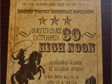 Vintage Style Birthday Invitations Vintage Inspired Cowboy Party Invitation by