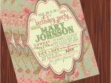 Vintage Style Birthday Invitations Vintage Invitation Printable Vintage Floral Birthday