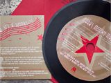 Vinyl Record Birthday Invitations Custom 45 Rpm Vinyl Record Invitations Designed by