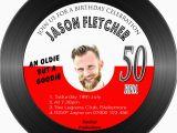 Vinyl Record Birthday Invitations Men 39 S Birthday Party Invitations Vinyl Record Shaped