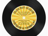 Vinyl Record Birthday Invitations Retro Vinyl Record Birthday Party Invitation Zazzle