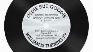 Vinyl Record Birthday Invitations Retro Vinyl Record Birthday Party Invitation Zazzle
