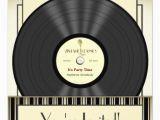 Vinyl Record Birthday Invitations Vintage Microphone Vinyl Record Party Invitations Zazzle