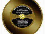 Vinyl Record Birthday Invitations Vinyl 45 Gold Record Birthday Party Invitation Zazzle