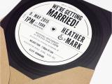 Vinyl Record Birthday Invitations Vinyl Record Wedding Invitation Charm Tree