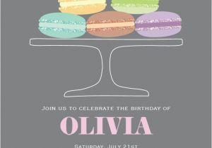 Vista Print Birthday Invitation 17 Best Images About Macaron Birthday On Pinterest