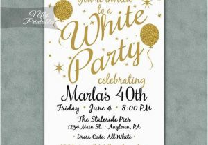 Vistaprint 80th Birthday Invitations White Party Invitation Printable Gold Black Tie
