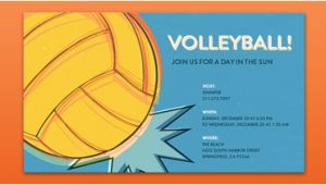 Volleyball Birthday Invitations Sports Leagues Free Online Invitations