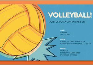 Volleyball Birthday Invitations Volleyball Party Invitation Zazzle