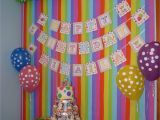 Wall Decorations for Birthday Party Colourful Backdrop for Candy Party Candy Party