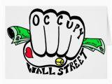 Wall Street Birthday Cards Occupy Wall Street Fist Greeting Card Zazzle
