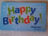 Walmart Birthday Gift Card New Unused Walmart Happy Birthday Gift Card Collectible No