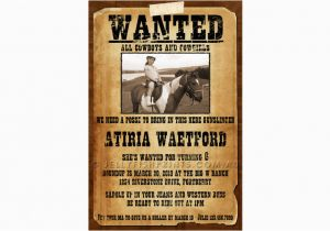Wanted Birthday Invitation Template Wanted Poster Cowboy Birthday Invitations Jellyfish Prints