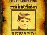 Wanted Birthday Invitation Template Wanted Poster Invitation for Kids Cowboy Western Birthday