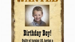 Wanted Birthday Invitation Template Wanted Poster Western Birthday Party Personalized